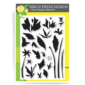 Birch Press Design WATERCOLOR WILDFLOWERS Clear Stamps CL8112*