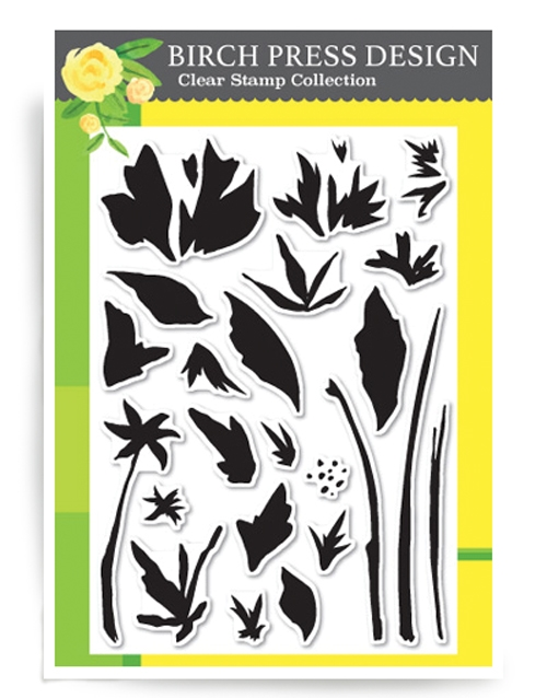 Birch Press Design WATERCOLOR WILDFLOWERS Clear Stamps CL8112* zoom image