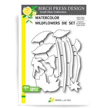 Birch Press Design WATERCOLOR WILDFLOWERS Craft Die 58112*