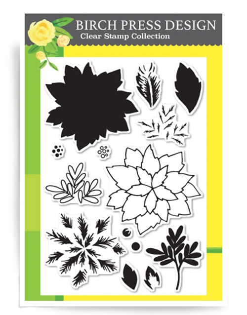 Birch Press Design HOLIDAY POINSETTIA Clear Stamps CL8111 zoom image