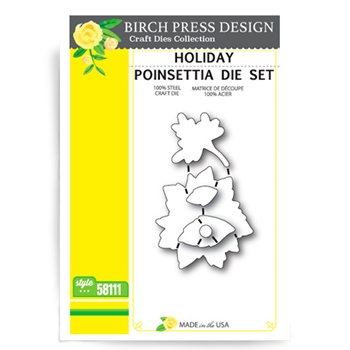Birch Press Design HOLIDAY POINSETTIA Craft Die 58111