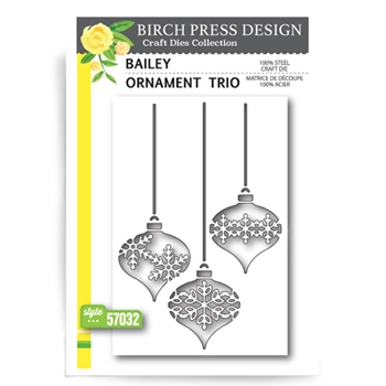 Birch Press Design BAILEY ORNAMENT TRIO Craft Die 57032