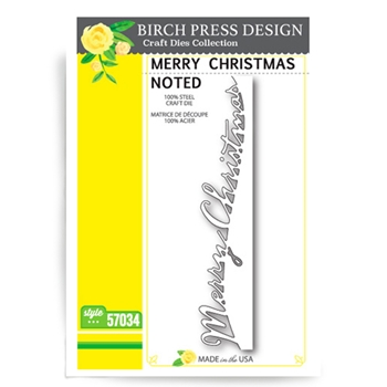 Birch Press Design MERRY CHRISTMAS NOTED Craft Die 57034