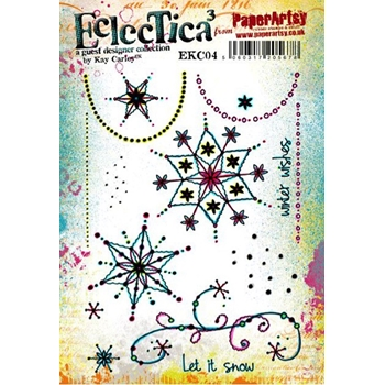 Paper Artsy ECLECTICA3 KAY CARLEY 04 Rubber Cling Stamp EKC04