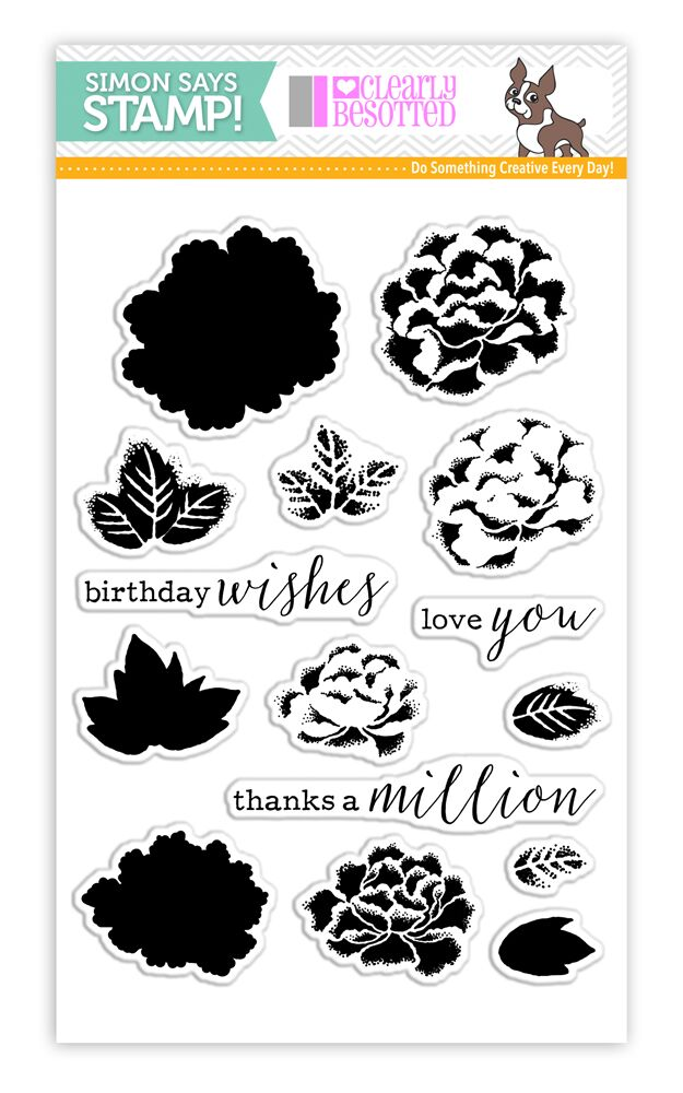 Clearly Besotted Stamptember Stamp Set LAYERED CHRYSANTHEMUMS sss101661