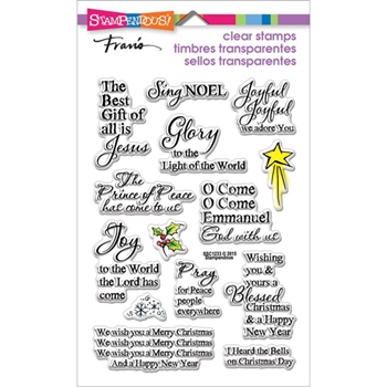 Stampendous Clear Stamps JOYFUL PHRASES SSC1233*