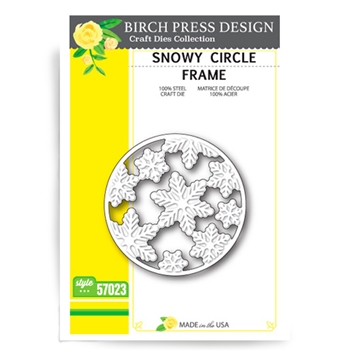 Birch Press Design SNOWY CIRCLE FRAME Craft Die 57023*