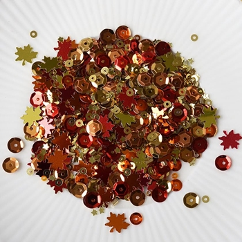 Little Things From Lucy's Cards COLOURS OF FALL Sequin Shaker Mix LB100