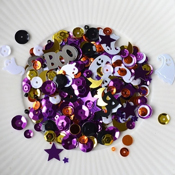 Little Things From Lucy's Cards SPOOKTACULAR Sequin Shaker Mix LB99*