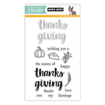Hero Arts Stamptember Stamp and Die Set HAPPY THANKSGIVING SSS101672