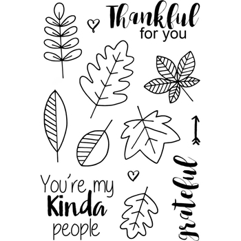Jane's Doodles THANKFUL Clear Stamp Set 742781