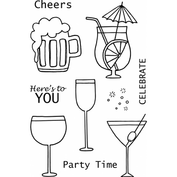 Jane's Doodles CHEERS Clear Stamp Set 742873