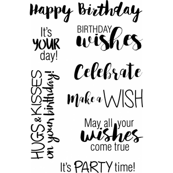 Jane's Doodles BIRTHDAY WISHES Clear Stamp Set 742804
