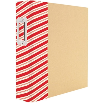 Simple Stories STRIPED HOLIDAY 6 x 8 Snap Binder 4109