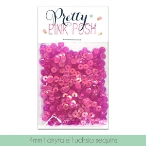 Pretty Pink Posh 4MM FAIRYTALE FUCHSIA Sequins