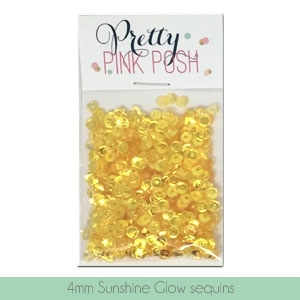 Pretty Pink Posh 4MM SUNSHINE GLOW Sequins