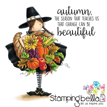 Stamping Bella Cling Stamp TINY TOWNIE CASEY HAS A CORNUCOPIA Rubber UM EB416