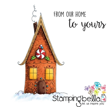 Stamping Bella Cling Stamp GINGERBREAD HOUSE Rubber UM EB423