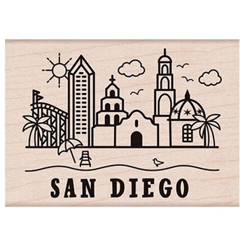 Hero Arts Rubber Stamp DESTINATION SAN DIEGO H6183
