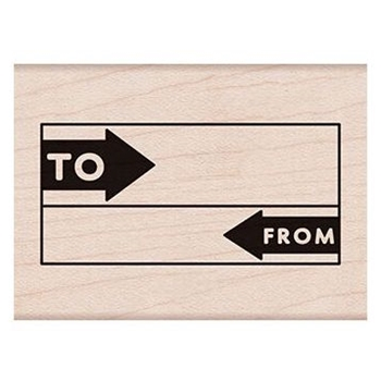 Hero Arts Rubber Stamp TO FROM GRID F6190