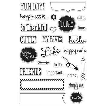 Hero Arts Clear Stamps FUN DAY PLANNER CM117