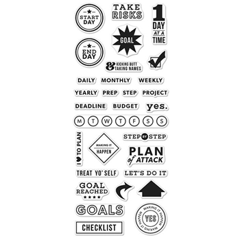 Hero Arts Clear Stamps KELLY'S GOAL PLANNER CM114