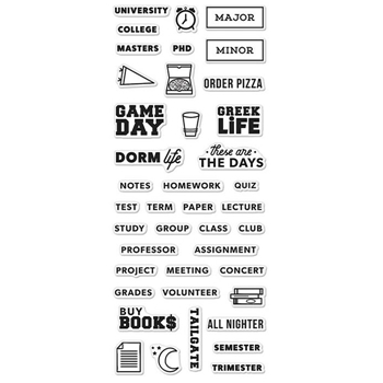 Hero Arts Clear Stamps KELLY'S COLLEGE LIFE PLANNER CM112