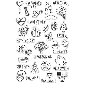 Hero Arts Clear Stamps HOLIDAY PLANNER ICONS CM110