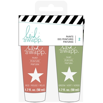 Heidi Swapp RED AND GREEN Paints 313225