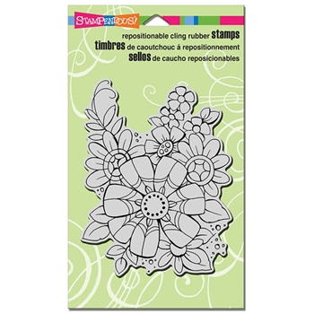 Stampendous Cling Stamp FLOWER PIZAZZ Rubber UM CRR286