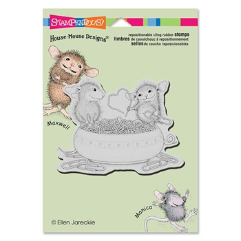 Stampendous Cling Stamp PAPER CLIP HEART Rubber UM HMCP57 House Mouse