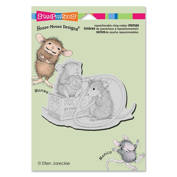 Stampendous Cling Stamp NURSE MOUSE Rubber UM HMCP62 House Mouse zoom image