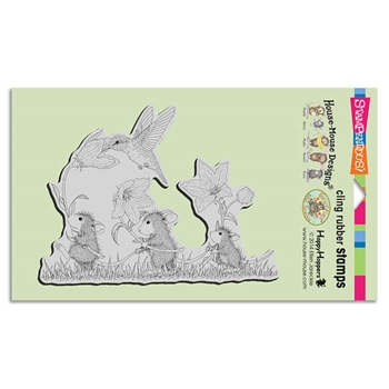 Stampendous Cling Stamp TAG ALONG TRIO Rubber UM HMCR84 House Mouse