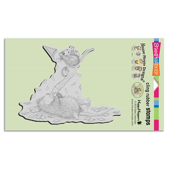 Stampendous Cling Stamp PARTY BLOWOUT Rubber UM HMCR87 House Mouse zoom image