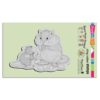Stampendous Cling Stamp CHIPMUNK TREAT Rubber UM HMCR89 House Mouse