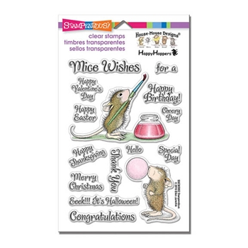 Stampendous Clear Stamps PAINTED WISHES House Mouse SSCM5002
