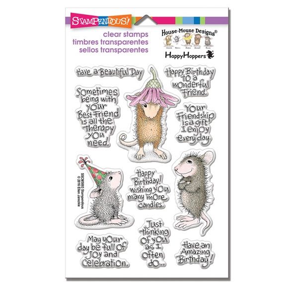 Stampendous House Mouse Friends Wishes Clear Stamp Set