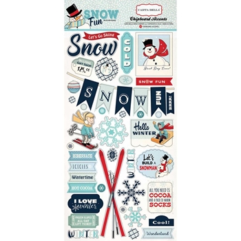 Carta Bella SNOW FUN 6 x 13 Chipboard CBSF59022