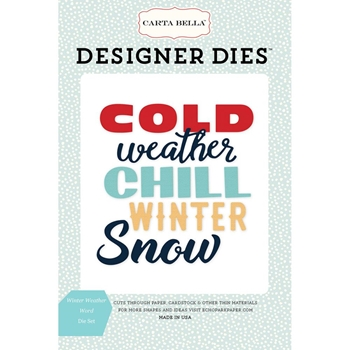 Carta Bella WINTER WEATHER WORD Dies Set CBSF59042
