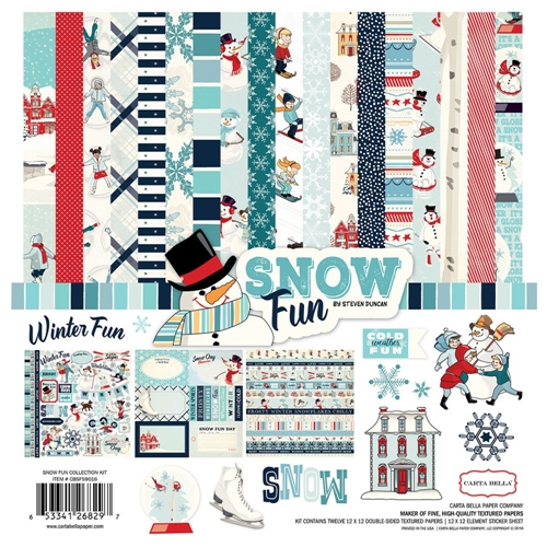 Carta Bella SNOW FUN 12 x 12 Collection Kit CBSF59016 Preview Image