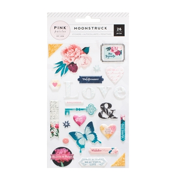 Pink Paislee MOONSTRUCK Puffy Stickers 310489