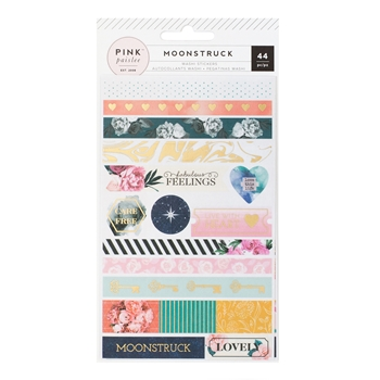 Pink Paislee MOONSTRUCK Washi Stickers Shapes 310491*