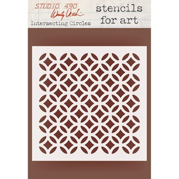 Wendy Vecchi Stencils for Art INTERSECTING CIRCLES WVSFA045
