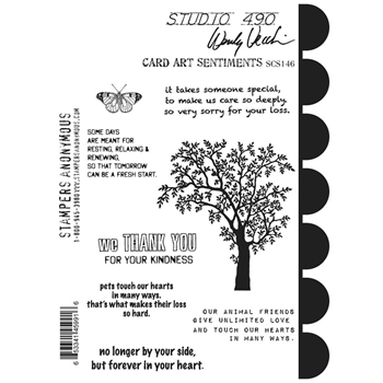 Wendy Vecchi Cling Rubber Stamps CARD ART SENTIMENTS Studio 490 SCS146