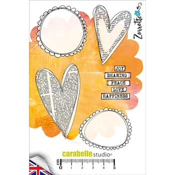 Carabelle Studio HEARTS AND PEBBLES Cling Stamp SA60243E