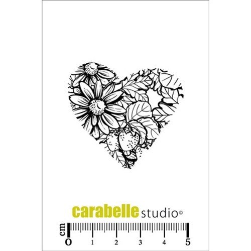 Carabelle Studio COEUR FLEURI Cling Stamp SMI0193 Preview Image