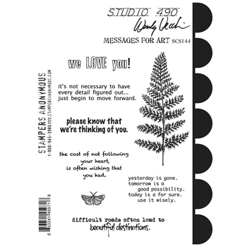 Wendy Vecchi Cling Rubber Stamps MESSAGES FOR ART Studio 490 SCS144