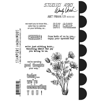 Wendy Vecchi Cling Rubber Stamps ART FROM US Studio 490 SCS143