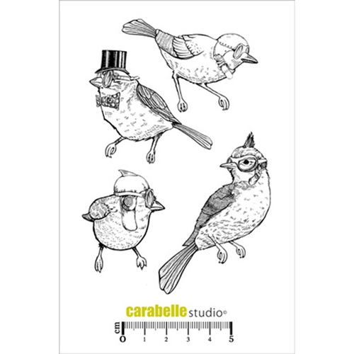 Carabelle Studio LES OISEAUX Cling Stamp SA60230 Preview Image