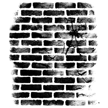 Wendy Vecchi Background Cling Rubber Stamp CRACKED BRICK WALL Studio 490 WVBG031
